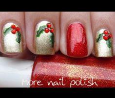Christmas nail art you-nailed-it Fancy Nails, Love Nails, How To Do Nails, Pretty Nails, Sparkle Nails, Holiday Nail Art, Christmas Nail Art Designs, Christmas Design, Xmas Nails