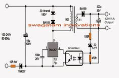 This post explains how to build a 1 amp smps with full circuit diagram and transformer winding details. Dc Circuit, Circuit Diagram, Simple Circuit, Electronic Circuit Projects, Electronic Engineering, Electronics Basics, Electronics Projects, Transformer Winding