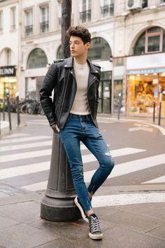 Jeans Slim, Denim Jeans, Skinny Jeans, Mode Man, Skinny Guys, Mens Fashion, Fashion Outfits, High Fashion, Japanese Denim