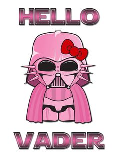 Brand New T-shirt Hello Kitty Star Wars Hello Vader