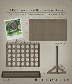 Best Yard Games for an Outdoor Party Four in a Row Yard Game - Project Plans by Build Basic www. Outdoor Yard Games, Diy Yard Games, Diy Games, Backyard Games, Outdoor Fun, Outdoor Parties, Party Games, Party Party, Giant Yard Games