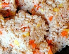 rice crispie treats with candy corn mixed in