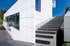 Entrance Steps : Richard Meier Designs a Minimalist Home in Luxembourg : Architectural Digest