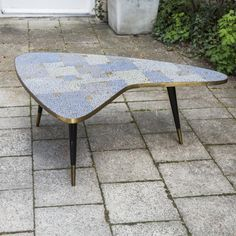 Mosaic Coffee Table by Berthold Müller Furniture, Coffee Table To Dining Table, Mid Century, Mosaic Coffee Table, Table Design, Mosaic Table, Outdoor Tables, Dining Table, Table