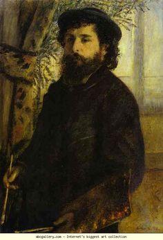 Pierre-Auguste Renoir. Portrait of Claude Monet. Olga's Gallery.