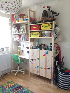 IVAR IKEA desk hack kids room IVAR IKEA skrivbord barnrum
