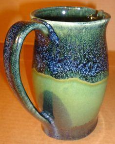Gloss Black over Frog Pond Green glazed pitcher - Michael MacDonald 2012