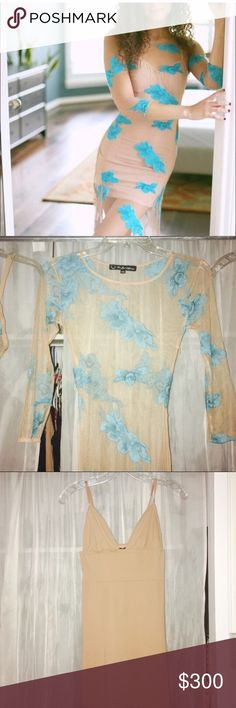 Blue Orchid Maxi For Love and Lemons Blue orchid Maxi dress with matching nude slip. Both size x small.  NWOT. ✨Open to offers & trades✨ For Love And Lemons Dresses