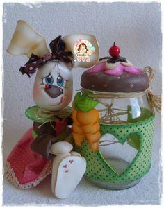 Vivir en EVA Foam Crafts, Arts And Crafts, Diy Crafts, Polymer Clay Animals, Polymer Clay Art, Clay Jar, Clay Figurine, Doll Tutorial, Pasta Flexible