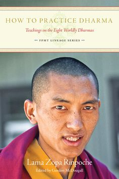 """If we have met the holy Dharma we should feel so fortunate. Even though we might still create negative karma, we have the opportunity to purify it. With an understanding of karma and refuge, we have the opportunity to practice Dharma, and so we know there is a solution. "" - Lama Zopa Rinpoche.  From our latest book, 'How to Practice Dharma: Teachings on the Eight Worldly Dharmas' available now.     http://www.lamayeshe.com/shorty/HTPD/"