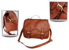 Vintage schoolbag Satchel tas T0012