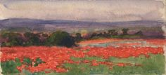 Vivian Cummings, A Poppy Field, France, around 1918 © Beaverbrook Collection of War Art, Canadian War Museum, Ottawa, Ontario 20110004-024