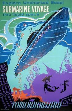 affiche vintage disneyland futuriste 06 Affiches vintage pour Disneyland