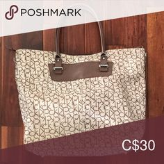 CK Tote Bag Large, multi-use tote bag! Large Bags, Womens Tote Bags, Michael Kors Jet Set, Totes, Calvin Klein, Pattern, Closet, Things To Sell, Armoire