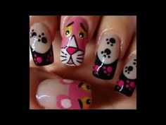 Pink Panther nail art – Nail Art Gallery by NAILS Magazine – Daily Fashion Fabulous Nails, Gorgeous Nails, Pretty Nails, Get Nails, Love Nails, Hair And Nails, Rosa Panther, Panthères Roses, Disney Nails