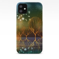 Night Reflections iPhone Case by - click/tap to buy Iphone 6 Cases, Reflection, Graphic Design, Landscape, Abstract, Night, Digital, Stuff To Buy, Summary