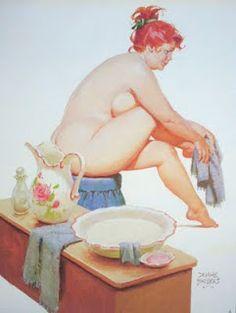 Hilda Bathing