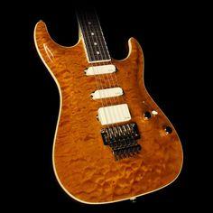 Suhr Standard Carve Top Electric Guitar Transparent Caramel