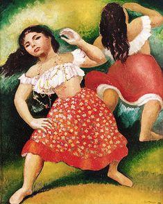 Bailarina 1958   Antonio Gomide óleo sobre tela, c.i.d. 49.00 x 40.00 cm
