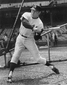 New York Yankee baseball player Mickey Mantle (1931 - 1995)