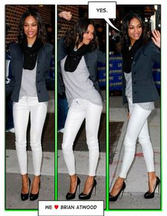 White jeans never work as well when I wear them, but love the look.