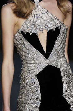 majestic black and silver embellished designer dress. Knockout !!!