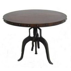 Hi-Low Steampunk End Table, Iron & Copper - Home Design Store
