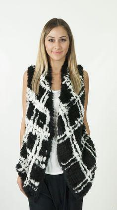 Lovely customer in the Arizona Fur Vest from Azalia boutique