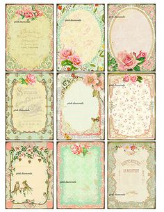 shabby paris chic gift tags