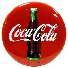 Placa Redonda Coca Cola Retro