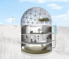 Shouting from the ...[internet]... rooftops...: polar cities and a preliminary sketch of Underground Desert Living Unit by Jennifer Daniels