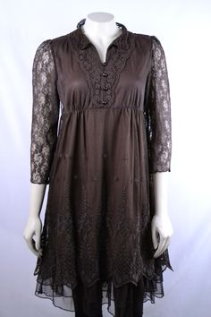 Just a Kiss Goodnight Chocolate Brown Lace Dress