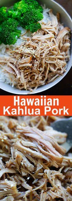 Hawaiian Kalua Pork (Instant Pot) - tender and juicy pressure cooker Hawaiian Kalua pork recipe. 10 mins active time and dinner is done | rasamalaysia.com