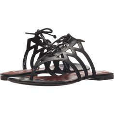 Cole Haan Claudia Sandal (Black Leather) Women's Sandals ($105) ❤ liked on Polyvore featuring shoes, sandals, black, black sandals, black leather shoes, leather sandals, leather shoes and lace up sandals