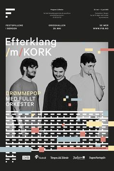 Bergen International Festival by Endre Berentzen, via Behance