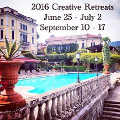 So excited to share the dates for next years Creative Retreats in Italy!! Save the dates if you want to enjoy a week in the most beautiful part of Italy enjoying the food, culture and art and all while being INSPIRED to Create Art with amazing teachers!! June will be a Mixed-media art event with an emphasis on documenting life, and September will be my Art & Faith week with an emphasis on Bible Journaling. More details will become available on my blog this June, with sign ups in July…