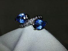 Ocean Blue Crystals - Ring