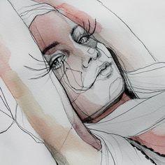 #art #arte #artwork #artsy #illustration #ilustracion #watercolor #acuarela #draw #dibujo #lapiz #grafito #drawing # dibujorapido #dibujoalapiz #ojos #eyes #retrato #portrait #fashionart #fashionillustration #artsgallery #artsupport #aquarelle #fastdrawing by anasantos_illustration