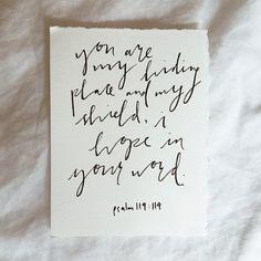 #adventista  Psalm 119:114 http://www.sdahymnal.net/