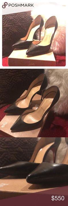 Christian louboutin size 39 Black 100 kid IRIZA 39 Christian Louboutin Shoes Heels