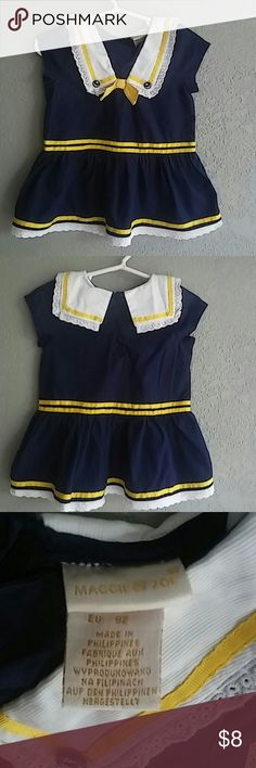 Adorable Maggie& Zoe sailor girl dress size 24mo Gently used in great condition...no tears no stains. Ready to ship! Maggie & Zoe Dresses