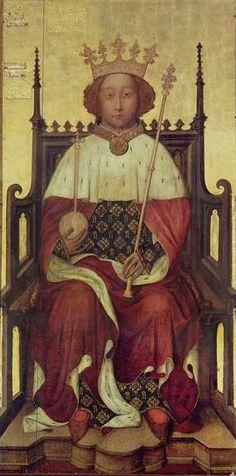 Rei Ricardo II. Rei da Inglaterra e França. Lorde da Irlanda e Príncipe de Chester.