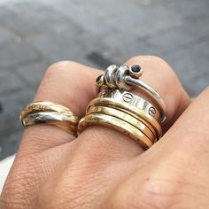 "Rings Details in White & Yellow Gold ... Cartier""Trinity""3 gold ring/ Bulgari B.Zero1 gold ring/ ..."