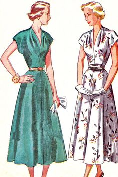 1940s Dress Pattern Simplicity 2848 Day or Evening by paneenjerez, $20.00