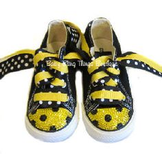Baby bling shoes   Bumble Bee Swarovski Bling Converse Shoes @ Baby Bling Things Boutique