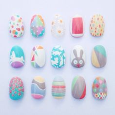 Easy peasy Easter designs using @barrymcosmetics NEW Speedy Nail Paint and NEW Gelly Hi-Shine #BarryM Nail Paints.Nails by Sophie Harris-Greenslade #theillustratednailHAPPY EASTER!