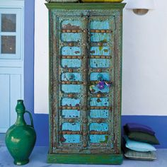 Armoires transformed on pinterest armoires painted armoire and painted cab - Armoire maison du monde ...