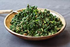 Chef Sarah Simmons's delicious and simple recipe for sesame-dressed Kale Gomae