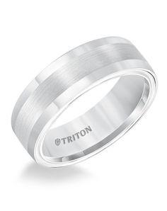 Tungsten men's wedding ring from Triton   http://trib.al/aQJ37Qb