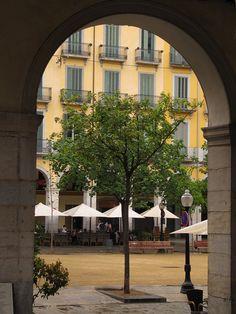 Plaça de la Independència. Girona. El Gironès. Catalonia